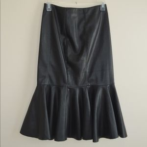 Women's Fit and Flare Pencil Skirt - Faux Leather